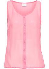 Kurze Bluse mit Knöpfen  Gr.48 mattpink