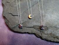 Sterling Silver Necklace with Moon or Star Detail - UK Seller
