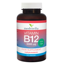 Vitamin B12 5000mcg 120 caps Vegetarian capsules + Prebiotic Inulin NO FILLERS