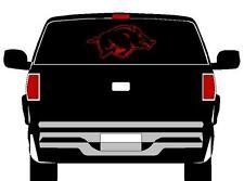 "12"" x 24"" Red Arkansas Razorbacks Vinyl Decal Car Truck Window Sticker Go Hogs!!"