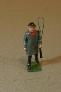 Britains vintage lead No.505 Carter with grey tunic ,whip & articulated arm