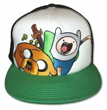 Adventure Time Treasure Cap White Green Brimmed Baseball Hat New Official Cap