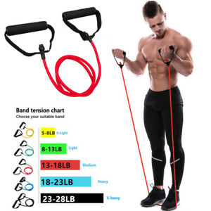Resistance Bands with Handles Yoga Pull Rope Elastic Fitness Exercise Tube Band