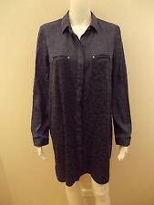 PORTMANS BLUE SHIRT DRESS-SIZE 10  (#454)