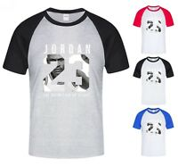 NEW Mens T-shirt Michael Air Legend 23 Jordan Men baseball shirt Raglan Graphic