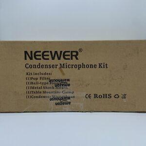Neewer NW-8000 Pro Studio Condenser Microphone Stand Shock Mount Pop Filter Kit