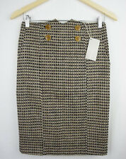 New Lilli Putian Womens Skirt 6 XS Tweed Pocket Button Pencil Winter Office 292