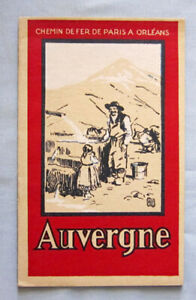 Original 1928 Auvergne France Railroad Travel Tourist Brochure Booklet