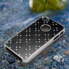 Black Stylish Brushed Aluminum Chrome Protective Back Case Cover for iPhone 4 4S