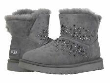 NIB UGG Classic Galaxy Bling Mini Women's Size 7 Grey Charcoal Boots $180 BS4