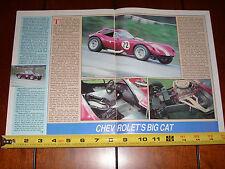BILL THOMAS CHEETAH SPORTS RACE CAR - ORIGINAL 1987 ARTICLE
