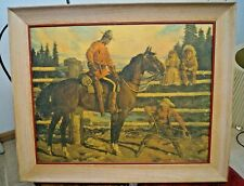 RARE Vintage 1956 Arnold Friberg Northwest Paper Co. Advertising Sign Print RCMP