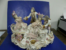 """Capodimonte figurine victorian card players large display 14 1/2"""" long"""