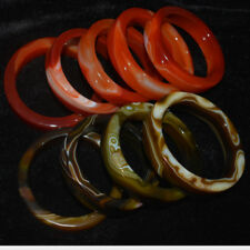 Natural Green Red Agate Bangle Bracelet Beautiful Decorative Pattern