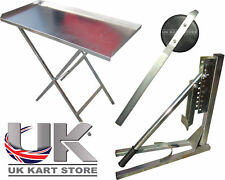 Adjustable Bead Breaker, Tyre Removal Tool & Sturdy Foldable Table for Kart Tyre