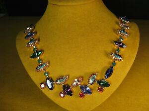 MARIANA NECKLACE SWAROVSKI MULTI LEAF CRYSTALS ROSE GOLD P MOSAIC Designer Gift