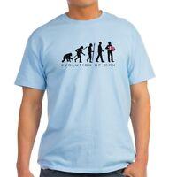 CafePress Evolution Of Man Accordion Player T Shirt Light T-Shirt (1213987991)