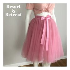 Ladies, Tulle Skirt, Pink, Size 12-18, Bridesmaid, Ballerina, Party, Evening