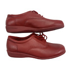 Dr. Scholl's Women's Red Double Air Pillo Comfort Walking Leather Shoes 8 Wide
