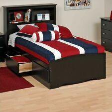 Prepac BBT-4100-2K Twin Mate Platform Storage Bed with 3 Drawers - Black