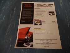 """( CLOSEOUT SALE ) 1/4"""" - 4' X 3' UNDER HOOD INSULATION , FOIL ON BOTH SIDES"""