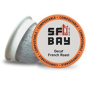 SF Bay Coffee OneCUP DECAF French Roast 36 Ct Swiss Water Processed Dark Roast