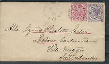 Alle Welt Australische Staaten Victoria Herrlicher Brief 1892 nach Lugano