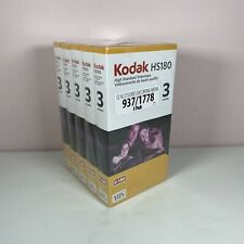 5 x Kodak HS180 BLANK VHS Video Tapes  3 Hour HS180 Brand New And Sealed
