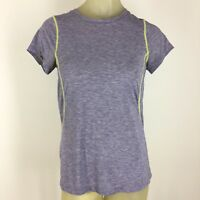Moving comfort woman shirt size medium top yoga athletic gray knit