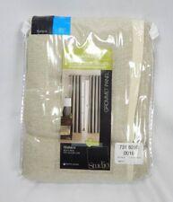 """Home Studio Soft Platinum Blackout Wallace Grommet Curtain Panel, 50""""x95"""""""