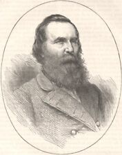 MILITARIA. Civil War. General Longstreet c1880 old antique print picture