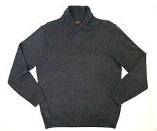 Rodd & Gunn European Yarn Mens Dark Navy White Woven Merino Wool Sweater Size XL