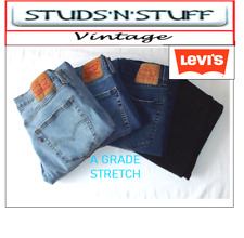 VINTAGE LEVIS DENIM (A GRADE) STRETCH JEANS 501,505,514,517,519,559,560,569