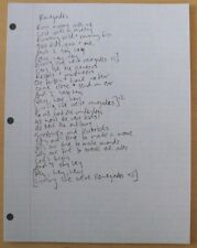 "X Ambassadors - Renegades lyric sheet. 8 1/2""x11"" promo item"