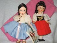 """Restrung--Gretel #454--& Israel #568 1983--Madame Alexander 8"""" lot 2"""