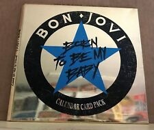 "BON JOVI Born To Be My Baby - Calendar Card Pack 1988 UK 7"" Vinyl Single EXCELLE"
