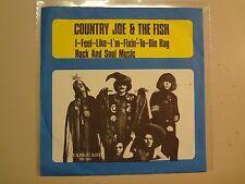 "COUNTRY JOE & FISH: Fish Cheer & I-Feel-Like-I'm-Fixin'-To-Die Rag-Sweden 7"" PSL"