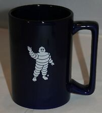 Michelin Tire Coffee Cup Mug Cobalt Blue Advertising M Ware Collectible
