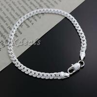 """des bijoux mignon chaîne femmes hommes bracelet. """" 5 mm bracelet argenté"""