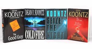 4 signed 1st ed HC by Dean Koontz, GOOD GUY, COLD FIRE, HUSBAND, SEIZE THE NIGHT