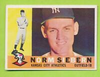 1960 Topps - Norm Siebern (#11)  Kansas City Athletics   NrMt Shape