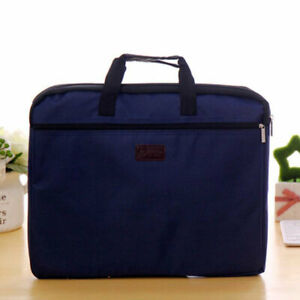 Men Office Zipper Briefcase Bag Document File Holder Handle Handbag Organizer