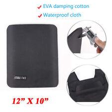 "Ballistic Soft Panel 12"" x 10"" Rectangle Cut Bullet Proof Backpack Plate Black"