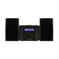 Sylvania SRCD804BT CD Microsystem w/ AM/FM Radio and Bluetooth