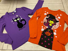 LOT OF YOUTH GIRLS HALLOWEEN LONG SLEEVE SHIRTS, SIZE L(10-12) 1989 PLACE