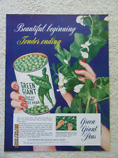 1951 Original Ad - Jolly Green Giant (Lesueur, MN) (Plus Heinz Pickles Ad)