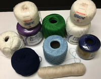 Large Lot Of Crochet Thread