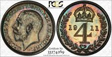 More details for 1911 fourpence groat 4d maundy money silver pcgs pl64 s-4016 four pence km814