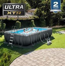 INTEX 24ft x 12ft x 52in Ultra XTR Farm Swimming Pool Set with Ladder, Pump