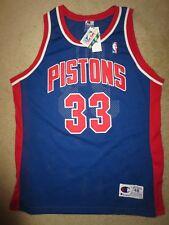 Grant Hill  33 Detroit Pistons NBA Champion Sewn Jersey 48 Vintage Rookie 14804ef8a